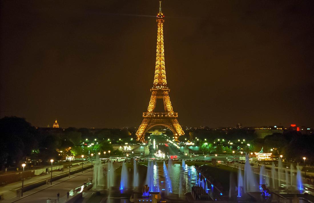 Eiffel Tower from Trocadero.