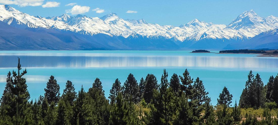 Lake Pukaki with Mt. Cook, New Zealand.