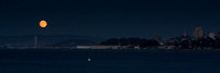Full Moon with San Francisco Panorama