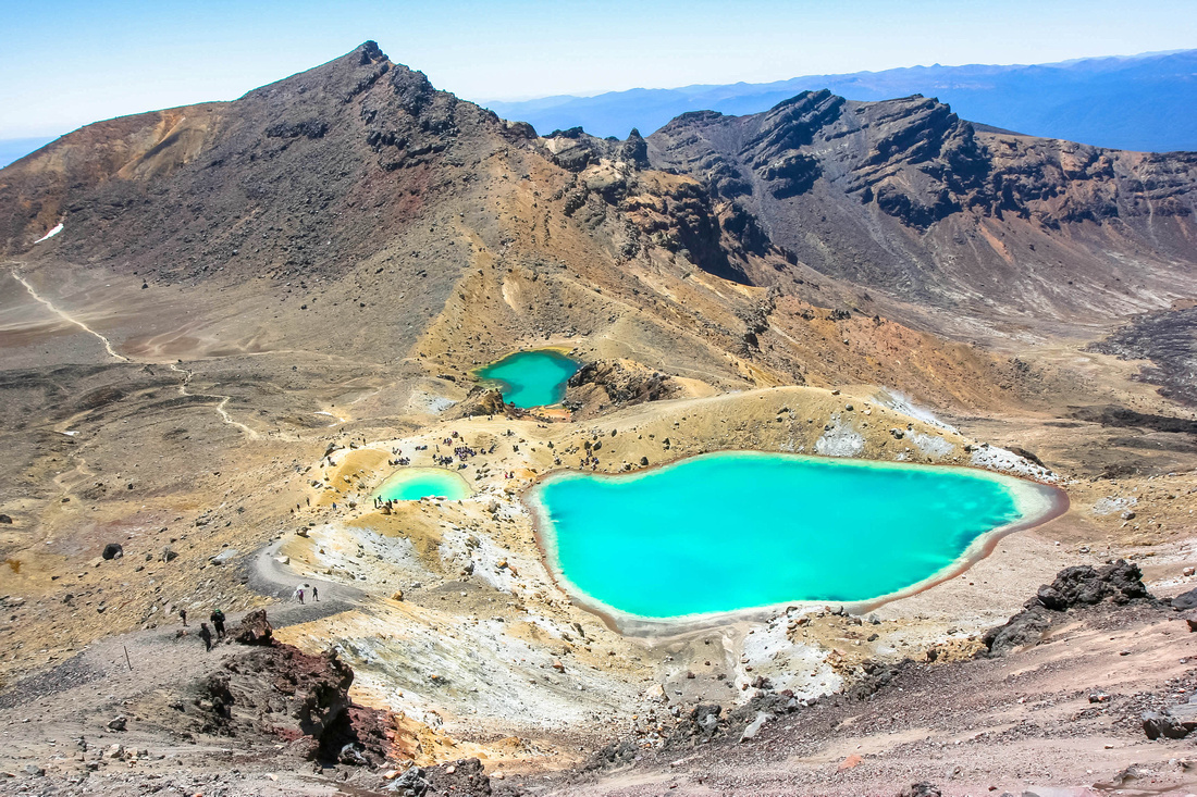 Emerald Lakes, Tongariro Crossing, New Zealand.