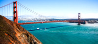 Golden Gate bridge from Marin Headlands.